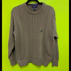 Gant Sweater 100% Cotton Cable Knit Hand Framed S